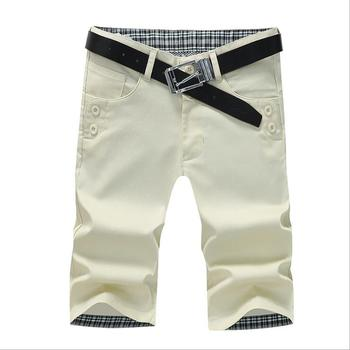 Pure cotton straight tube trousers