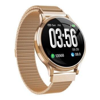 MK08 цветной экран Смарт-часы мужские с измерением артериального давления женские спортивные умные часы для xiaomi Band android huawei Apple