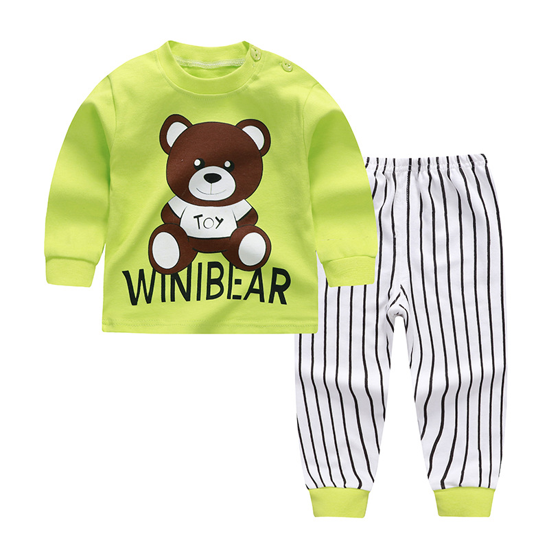 Girl Give Thanks Brown Cotton Crewneck Boys-Girls Sleepwear Pajama 2 Pcs Set
