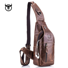 Genuine leather men's Chest Bag vintage cow leather Crossbody bag for male Shoulder Bags Men Diagonal Package messenger bag genuine leather men bag fashion vintage real cow leather men shoulder bag leisure male crossbody messenger bag small bag men