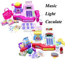 New Baby Educational Toy Pretend Play Register & Scanner large size Supermarket Cash register Toys with light music