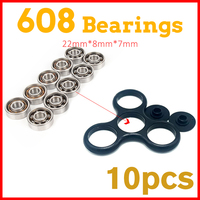10Pcs Super Fast Skate 608 Bearing For Hand Spinners Fidget Toys Stress Wheel Tri Spinner Adult