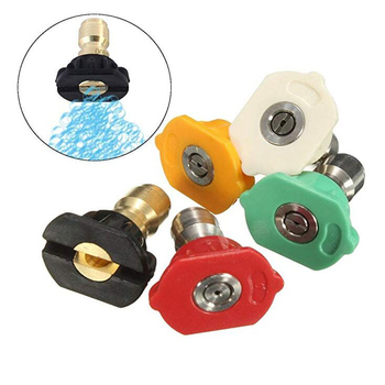 5 piezas Paquete de alta presión Spray boquillas Tip Set variedad grados conexión rápida para Gas lavadoras a presión