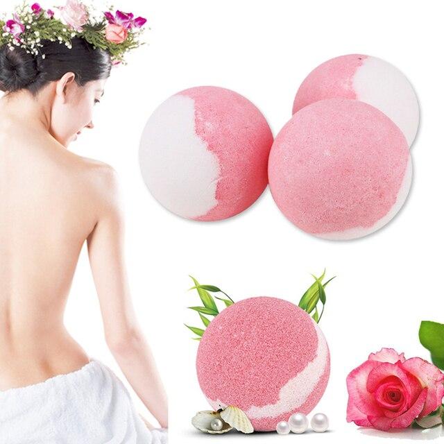 Bath Salt Bombs Balls Whitening Moisture Essential Oil Body Scrubrose Oil Bath Ball Bomb for Home Bathroom Spa Bath 2