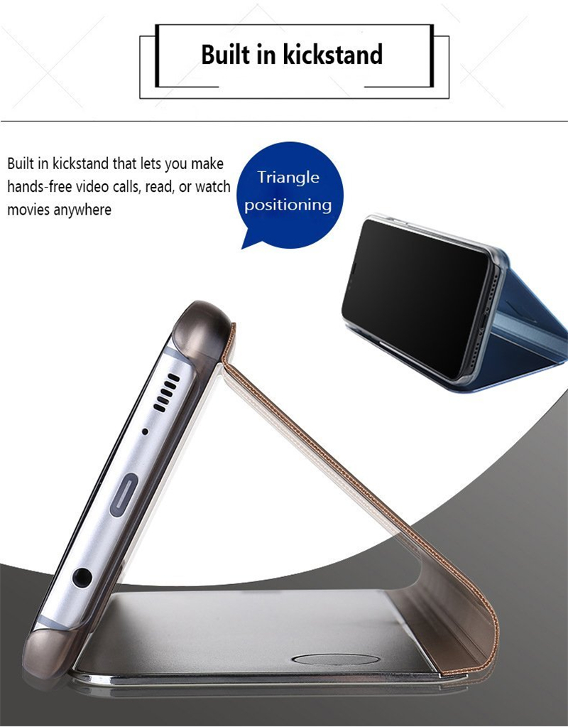 Protect your iPhone, Flip Stand Clear View, Mirror Case