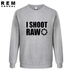 Image 3 - סגנון חדש אני לירות גלם מצחיק צלם מתנה ארוך שרוול גברים מקרית נים, חולצות