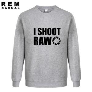 Image 3 - New Style I SHOOT RAW Funny Photographer Gift long sleeve Men Casual Hoodies, Sweatshirts