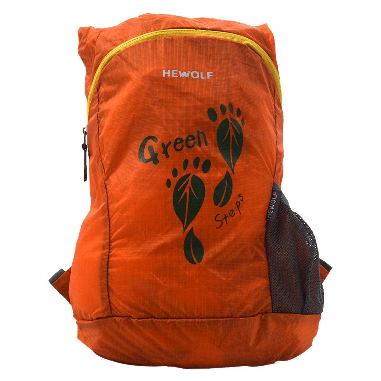 ICON Hewolf 1815 Outdoor Lightweight Hiking 15L Unisex Waterproof Backpack Shoulder Pack, Orange