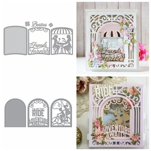 Layered Cutting Die Friends Forever and Adventure Awaits Children Stencil For Diy Scrapbooking Paper Cards Crafts Newest 2019