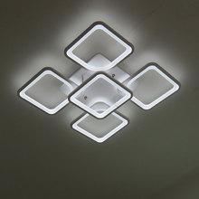 מרחוק מודרני LED תקרת אורות לחדר שינה חדר אוכל אקריליק אהיל Dimmable עבור 15-25 מטרים Lamparas De techo
