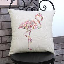 Фестиваль цветной печати в Гаджаре. Подушка с индивидуальными декоративными подушками.