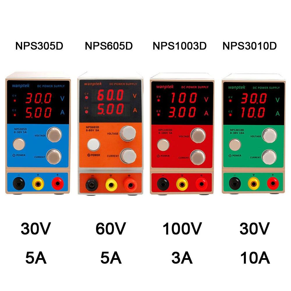 NPS 0-100V 0-10A banc de laboratoire alimentation trois affichage numérique réglable Mini commutateur DC alimentation pour réparation de téléphone