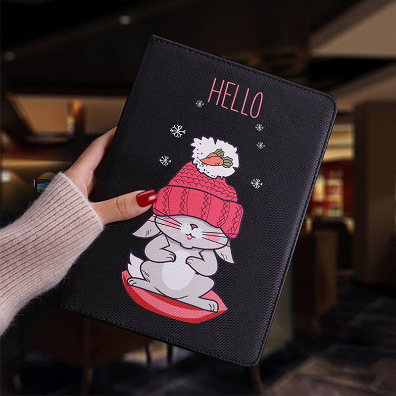 Tablet protective case For ipad pro 10.5 Flip smart stand cover pu leather Cute cat Cartoon illustration Case For ipad pro 10 (10)