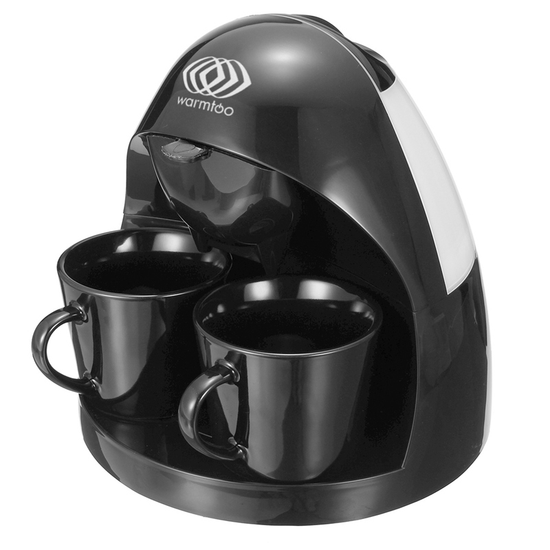 Warmtoo 2Cups Drip Type American Coffee Machine Fully Automatic Heat Preservation Type Tea Brewing Maker Kitchen Appliances cukyi american coffee machine tea boiler automatic insulation drip type 2 persons portable washable high quality ceramic cup