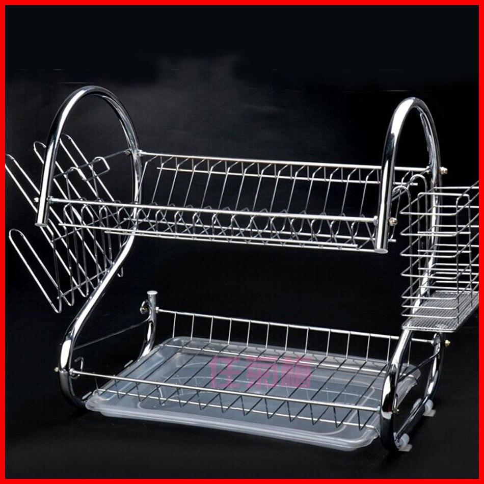 Sortie d'usine s type plat rack double bol rack//9//cuisine plat rack drain cadre vente en gros/stockage rack