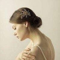 High Qualities Handmade Hair Comb Women Hair Jewelry Marriage Wedding Accessories Bridal Headdress Gold Floral O839