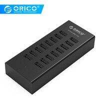 ORICO H1613 портативный usb-разветвитель 16 портов USB2.0 концентратор USB порт usb-концентратор с адаптером питания 12V2A для ноутбука Apple Macbook ПК планшета