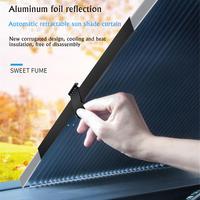 Солнцезащитный козырек для окна автомобиля выдвижной складной солнцезащитный козырек от лобового стекла защитный занавес авто солнцезащи...