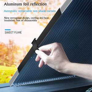 Car Window Sunshade Retractable Foldable Windshield Sunshade Cover Shield Curtain Auto Sun Shade Block Anti-UV Car Window Shade(China)