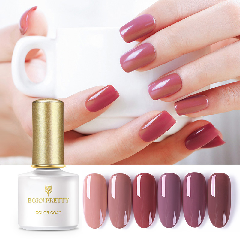BORN PRETTY Plum Color Gel Nail Polish 6ml Soak Off Nail