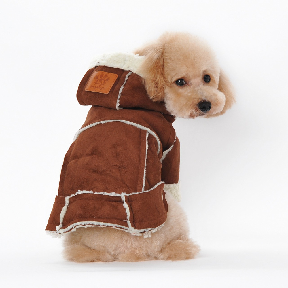Hot sale Free gifts+Free shipping High quality Pet Dog Coat Suede Jacket Casual Fashion Pet Dog
