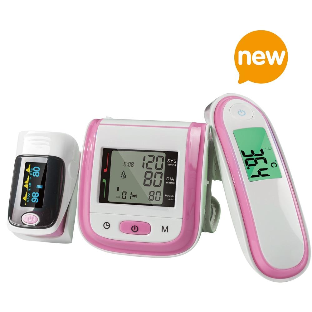 Yongrow Пульсоксиметр и кровяного Давление монитор и инфракрасный термометр тела с здравоохранения (Multi-Цвета)