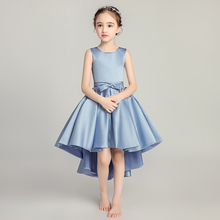 Cute O-neck Communion Prom Dress Bow Children Vestidos De Fiesta Flower Girl Wedding Pageant Holy Dresses Sleeveless Ball Gown недорого