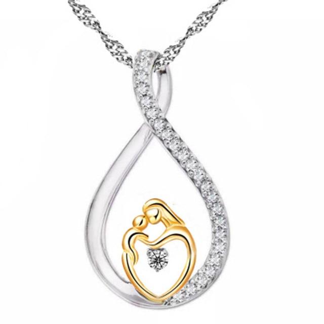 Célèbre Mamans Bijoux D'anniversaire Cadeau Pour Mère Bébé Coeur Charme  OV54