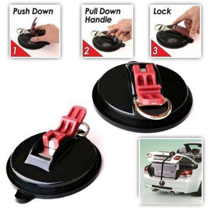 Universal For Car Truck Suction Cup Anchor Heavy Duty Tie Down Car Mount Luggage Tarps Tents Anchor With Securing Hook