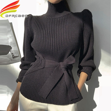 2019 Autumn Winter Women Pullovers And Sweaters Knitted Elasticity Casual Jumper Fashion Turtleneck Warm Female