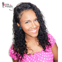 Ever Beauty Full Lace Wig Pre Plucked Brazilian Loose Curly Remy Human Hair Natural Black 12