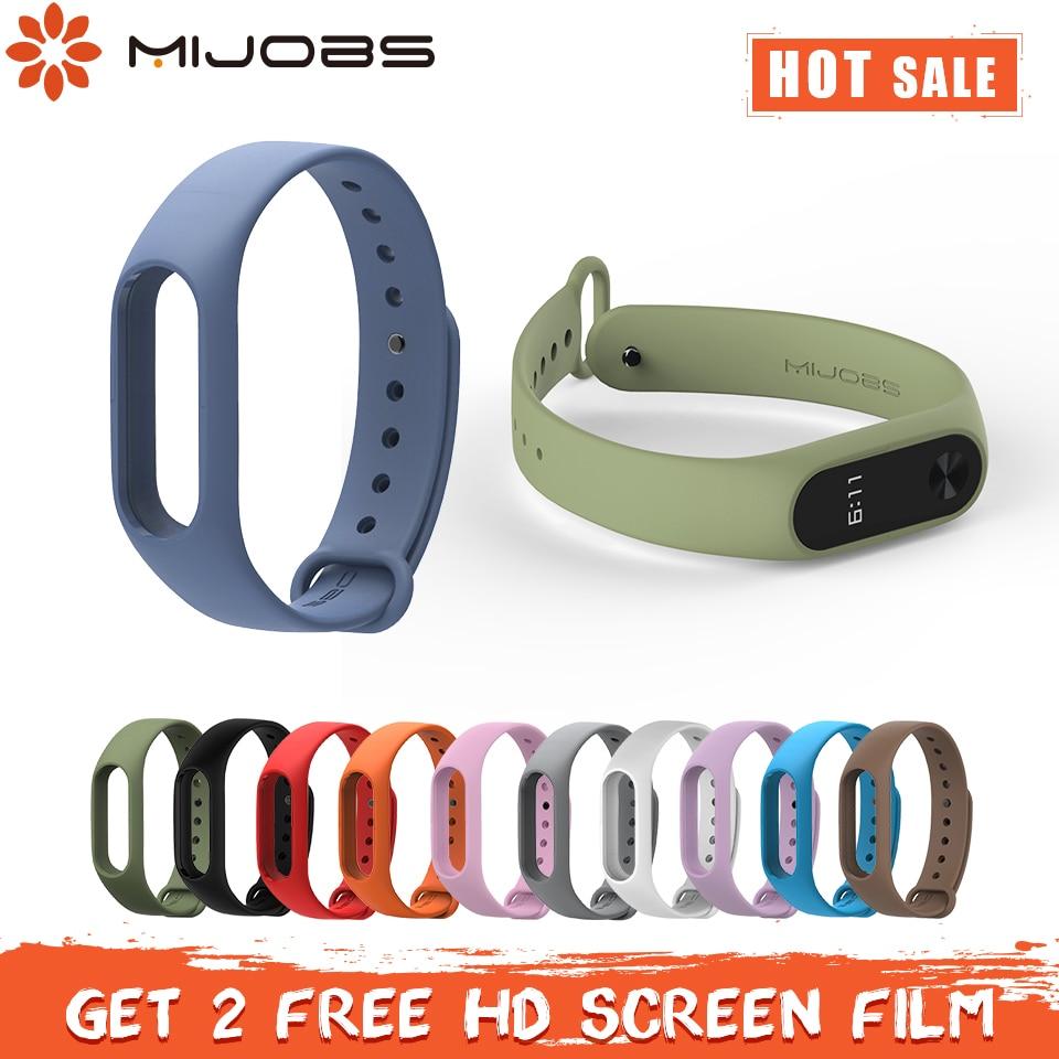 Mijobs Mi Band 2 Strap Silicone Wrist Strap Bracelet miband 2 Strap Accessories Mi band 2 Bracelet Smart for Xiaomi mi band 2