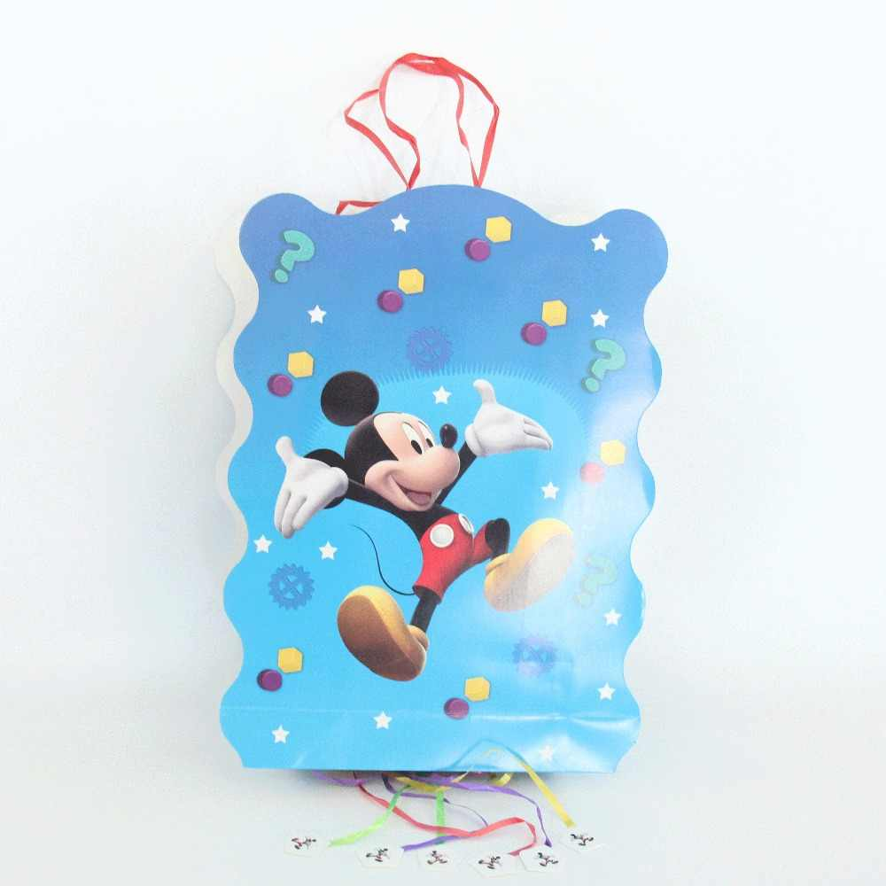 6pc Happy วันเกิด Mickey ของขวัญถุง Candy สำหรับยูนิคอร์นปาร์ตี้ฝักบัวเด็กสาวกล่องกระดาษ Candy บรรจุภัณฑ์ของขวัญ party Supplies