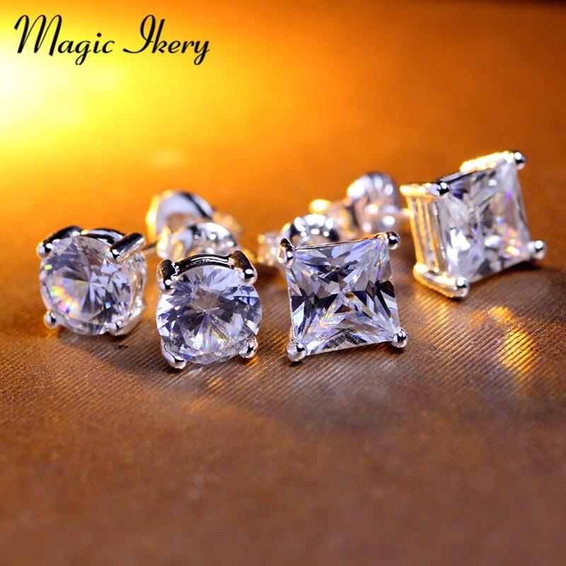 Magic Ikery 7mm CZ aaa zirkonové náušnice pro ženy Muži Šperky - Bižuterie