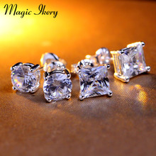 Magic Ikery 7mm CZ aaa zircon Earrings for Women Men Jewelry Cool Men Stud Earrings Vintage Women Earrings Couples MKA38