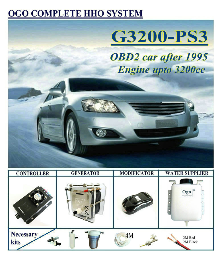 OGO Complete HHO System PS3 PWM CE&FCC Dynamic EFIE Chip Upto 3200CC