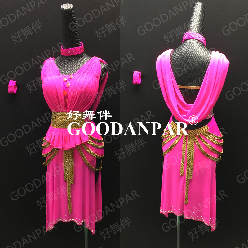 Latin Dance Dress  Latin Dancewear Latin Dance Dress  Latin Costume Competition Costumes,rose Pink,cha Cha Dress