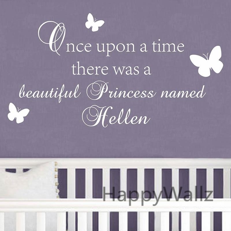 Vlastní jméno Dětská školka Nástěnná Nálepka Kutilství Kdysi dávno Existuje Princezna Jméno Dívky Nálepky Nálepky Nálepky C68