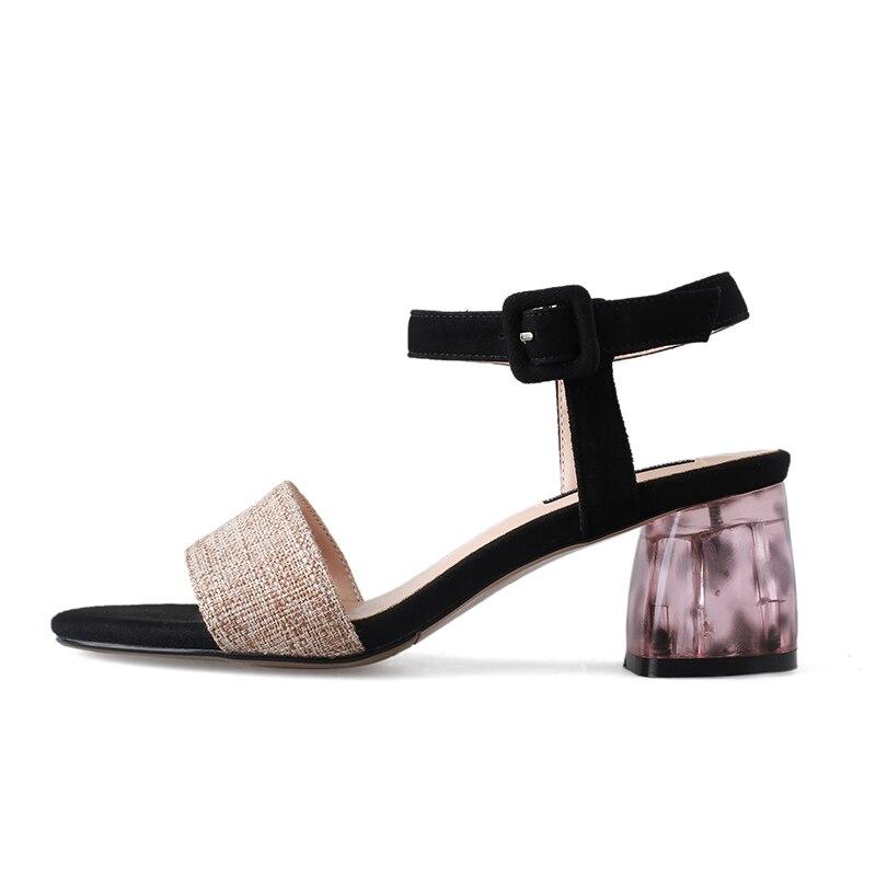 Frau Weibliche Party dark Apricot Offene Sandalen Sommer Light Apricot Farbe Ankle High Wildleder Strap Kind Spitze Mode Wetkiss Heels Schuhe Frauen SvZWg
