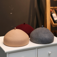 Three Dimensional Stereotypes Beret Female Autumn And Winter Wild Wool Hat Painter Hat Knit Cap