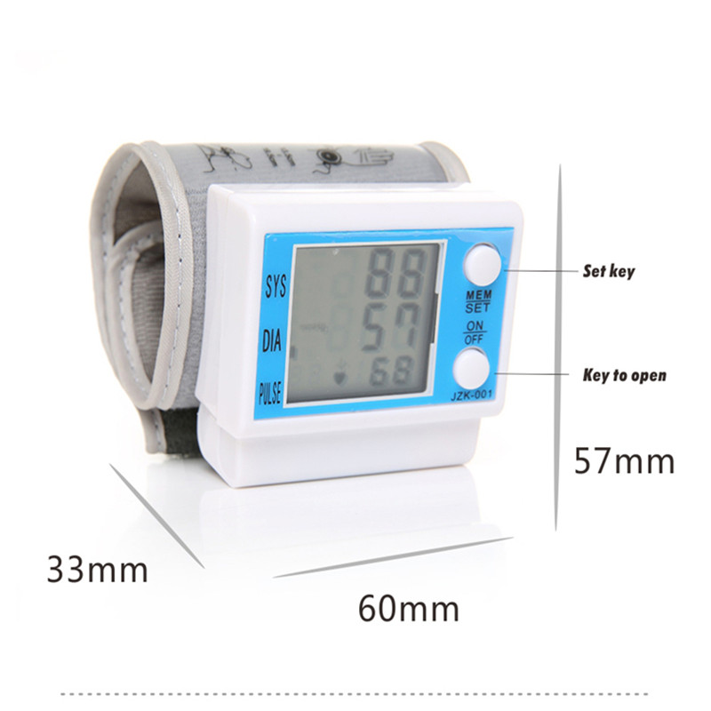 Portable LCD Tonometer Blood Pressure Monitor Digital Pulse meter medidor pressao arterial font b Health b