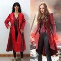 Капитан Америка 3 Гражданская Война косплей костюмы Ванда Maximoff Алая Ведьма косплей костюм