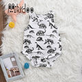 Baby boy clothes sleeveless romper toddler jumpsuit kids outfit animal clothing set dinosaur infant cotton top stylish 2017