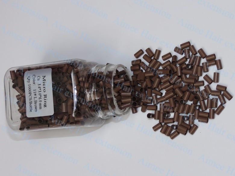 3.4*3.0*6.0mm 3 # Escuro brown1000pcs lote de