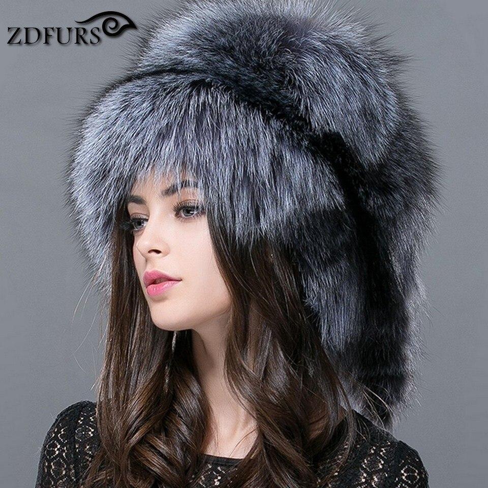 ZDFURS * Automne et d'hiver Femmes de Véritable raton laveur chien russe chapeau de fourrure véritable fourrure de renard chapeau dôme chapeau mongol ZDH-161013