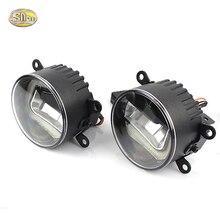SNCN High Brightness 90mm LED fog lamp for Mitsubishi Pajero Sport 2010~2016 Daytime Running Lights LED DRL