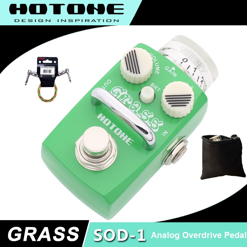 Hotone Skyline Series GRASS Classic Overdrive Pedal with Free Pedal Case and More цена