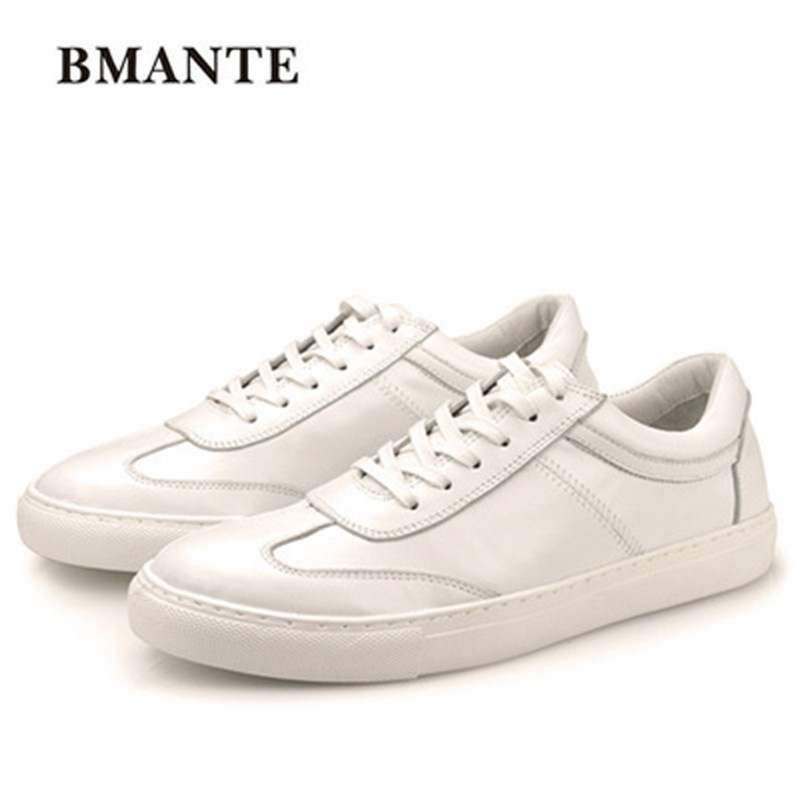 Summer Male Adult Shoes Casual Lace-up Flats Spring Black Luxury Trainers Shoes White Black Brogue Men Genuine Leather Shoes 2017 new spring imported leather men s shoes white eather shoes breathable sneaker fashion men casual shoes