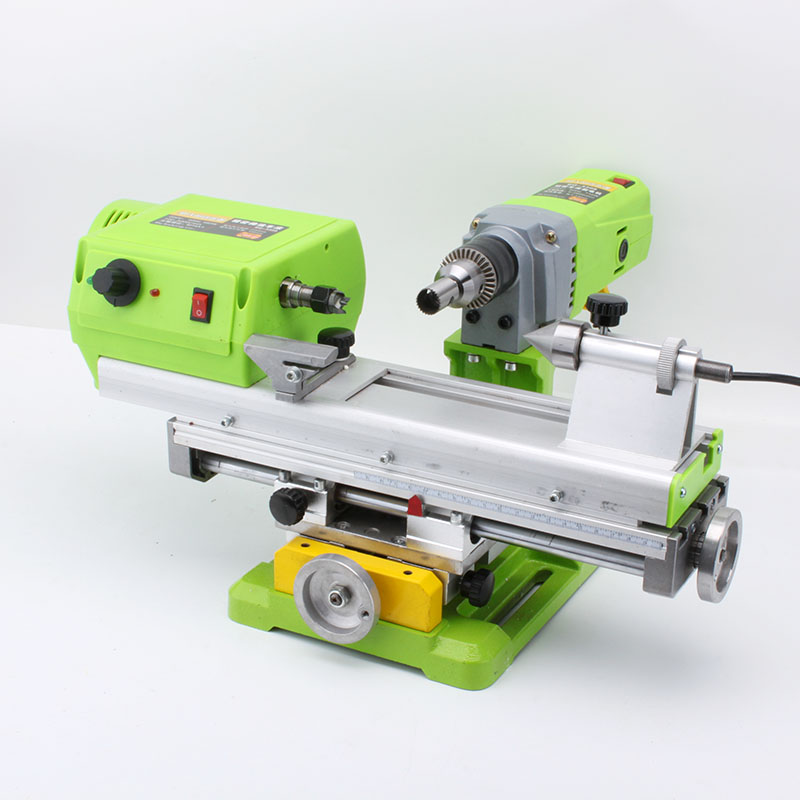 Beads Making Machine Small DIY Woodworking Bench Drill Micro-Polished Barrel Bead Ball Lathe цены