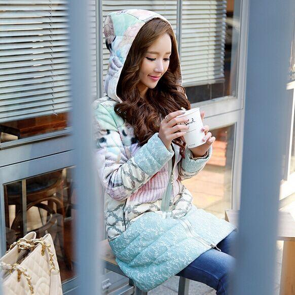 Куртка девушки длинные марка 2016 новая зимняя одежда Куртка С Капюшоном женский марка